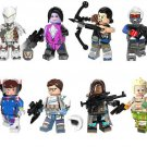 Widowmaker Hanzou JunkRat Minifigures Compatible Lego Game Overwatch Toy