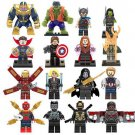 16pcs Avengers Thor Scarlet Witch Captain America Minifigure Compatible Lego Toy Super hero