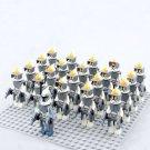 21pcs Galactic Republic 212th Attack Battalion Minifigures Compatible Lego Toy Star Wars sets