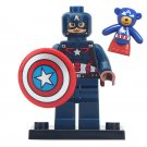 Christmas gift Captain America With Captain America Bear Minifigures Compatible Lego Avengers Toy