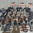 18pcs Germany army Minifigures Compatible Lego WW2 military