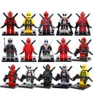 15pcs Deadpool 2 Minifigures Lego Superhero Compatible Toy