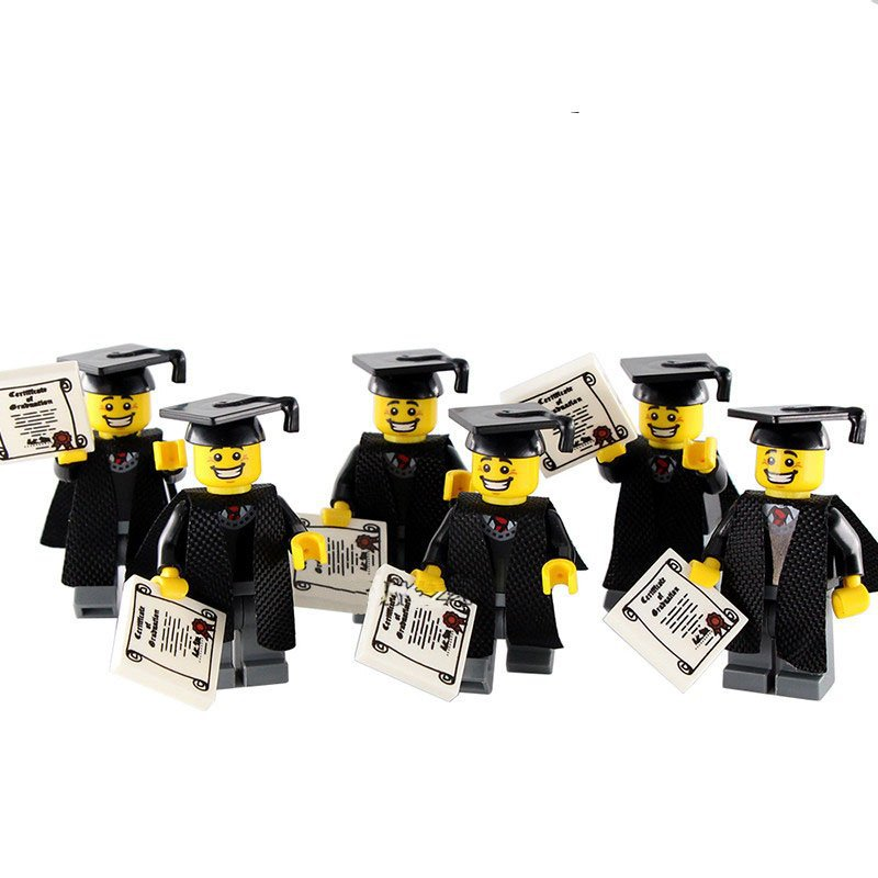6pcs School Graduate Minifigures Lego Compatible Minifigures 8805