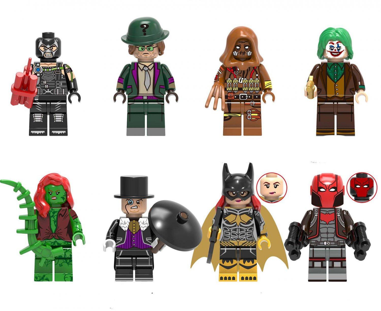 Batwoman Red Hood Poison Ivy Minifigures Lego Compatible DC Super Heroes sets