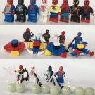 Spider-Man Venom Minifigures Compatible Lego Spider-Man sets