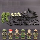 WW2 American soldiers Lego Minifigures Compatible Military base