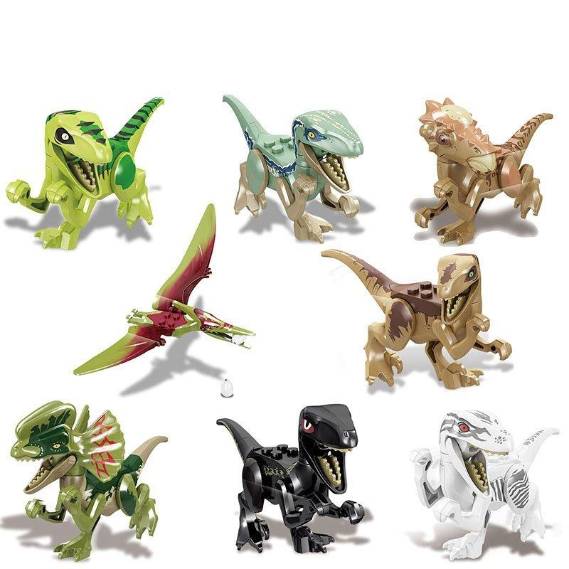 Jurassic World Raptors Quetzalcoatlus Allosaurus Lego building Compatible Toy