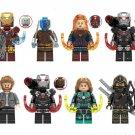 War Machine MK85 Captain Marvel Hawkeye Lego Minifigures Compatible Avengers Toy