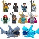 10pcs Aquaman movie Minifigures Black Manta Nereus Orm Vulko Lego Compatible Toy