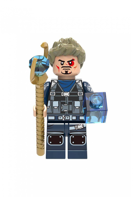 Tony Stark Chitauri scepter Minifigures Lego Compatible Iron Man Toy