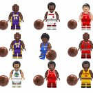9pcs Basketball Star Yao Ming Tracy McGrady O'Neal Minifigures Lego Compatible Toy