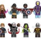 Avengers Endgame Shuri Captain America Pepper Lego Minifigures Compatible Toy
