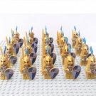 20pcs Medieval Castle Gold Soldiers Minifigures Lego Compatible Toy