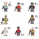 8pcs Fortnite Lego Minifigures Compatible Toy, Sledgehammer Glory Vanguard Burnout