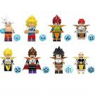 8pcs Dragon Ball Z Lego Minifigures Compatible Toy King Vegeta Recoom Krillin