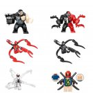 6pcs Venom Carnage Anti-Venom Lego Minifigure Compatible Toy