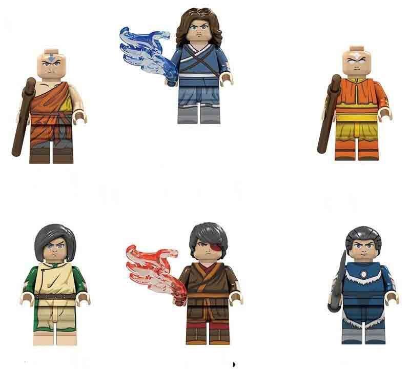 Aang PrinceZuko Sokka Katara Lego Minifigures Compatible Avatar The Last Airbender Toy