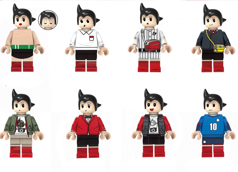 8pcs Astroboy Minifigures Lego Compatible Comic sets