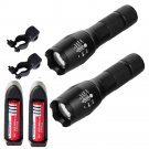 2PC X800 Tactical Flashlight LED Military Lumens Alonefire ShadowHawk Set+Clip