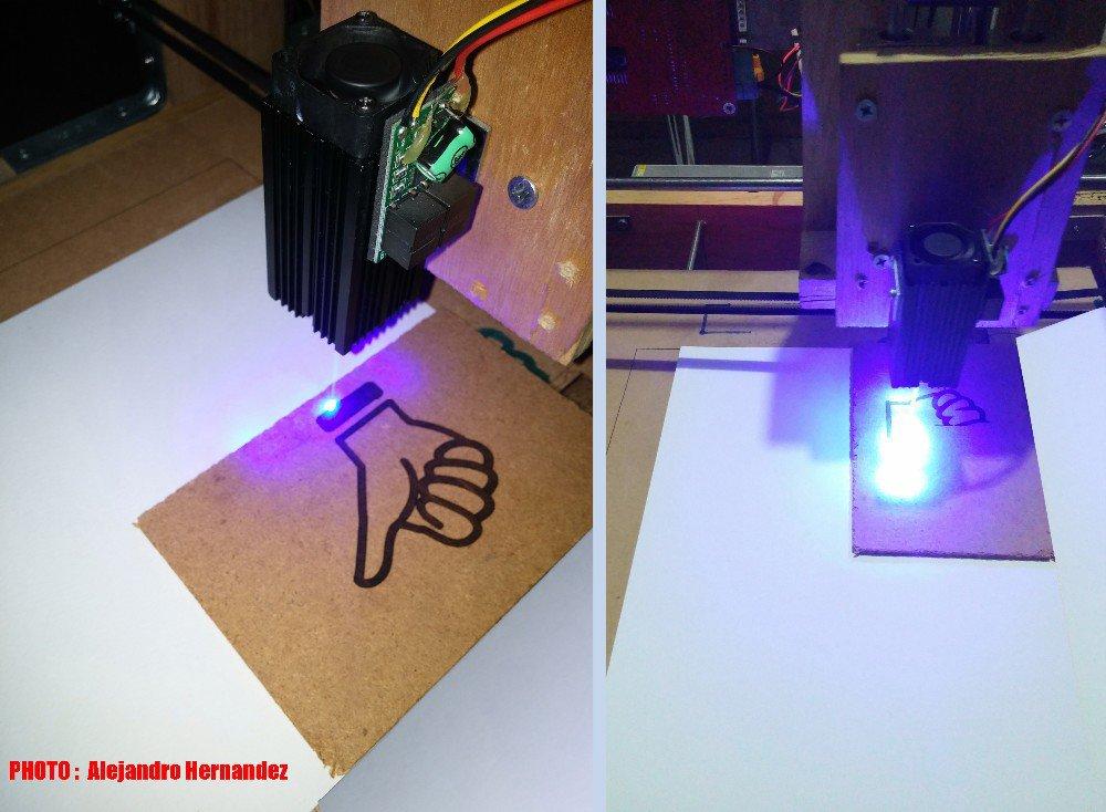 2.8W Laser Head 2800mw 450nm Module For CNC Engraver DIY Engraving Machine Parts