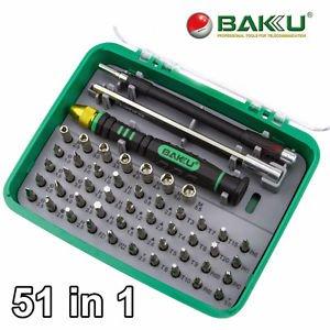 BAKU 51 in 1 Tool Precision Screwdriver Set Tweezer Phone Laptop Repair Toolkit