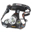 Boruit JR-3000 CREE XML T6 4 Mode LED Headlamp Headlight 5000 Lumens Hiking Lamp