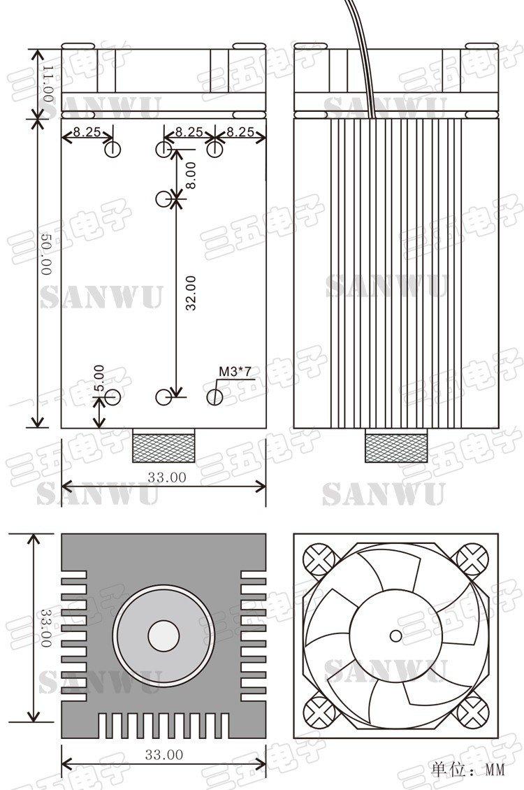 1600mw Blue Laser Module Head 450nm Part Diode Tube For Engraver Machine 1.6w