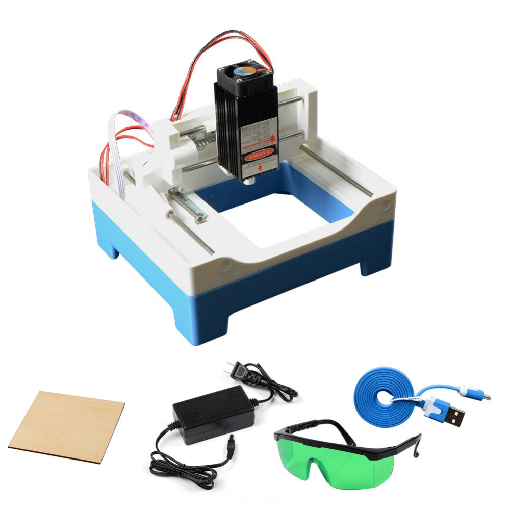 Desktop Laser Engraving Machine Marking DIY Cutting Plotter 1W Engraver 1000mw