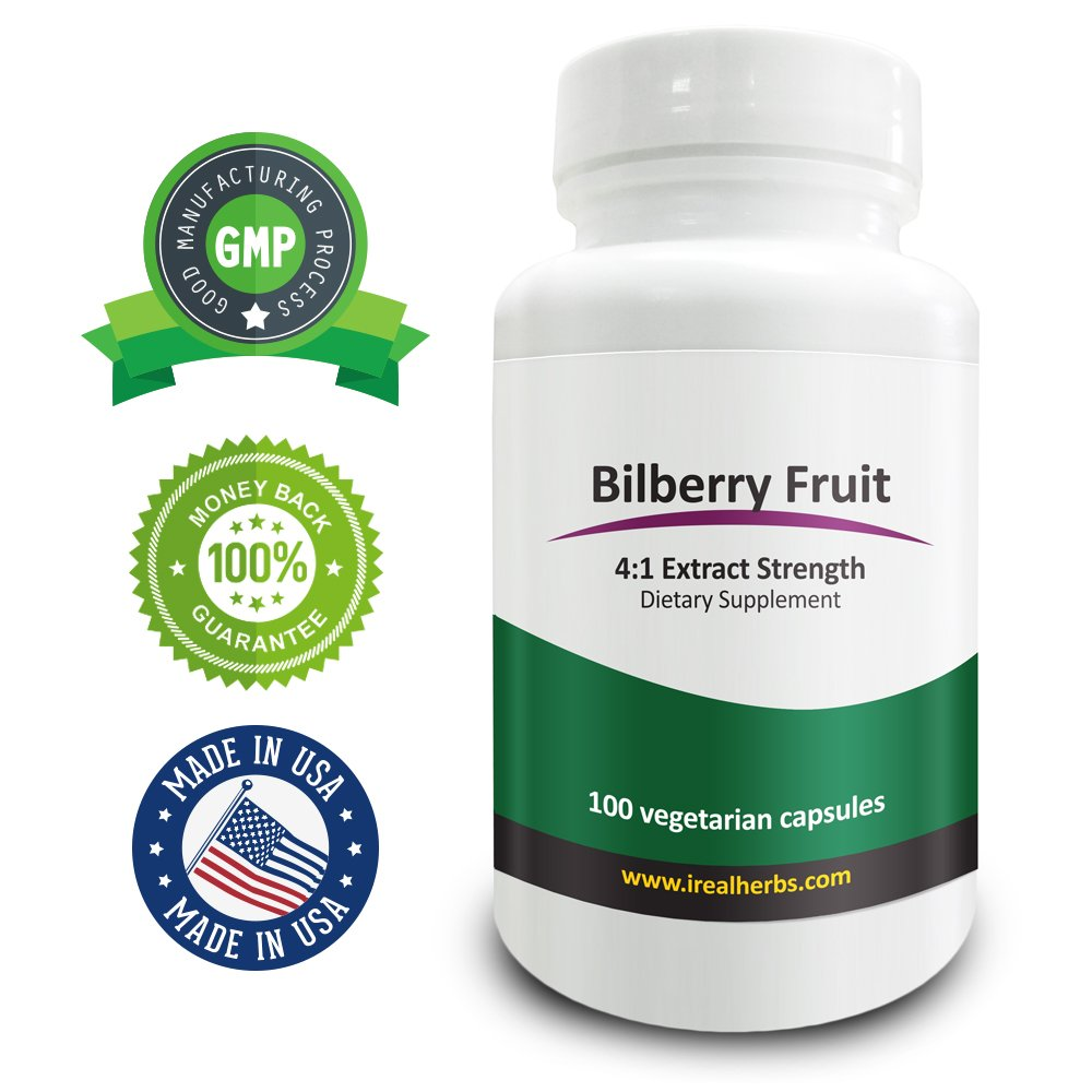 Real Herbs Bilberry Extract PE 4:1 - Equal to 1500mg of Bilberry Fruit
