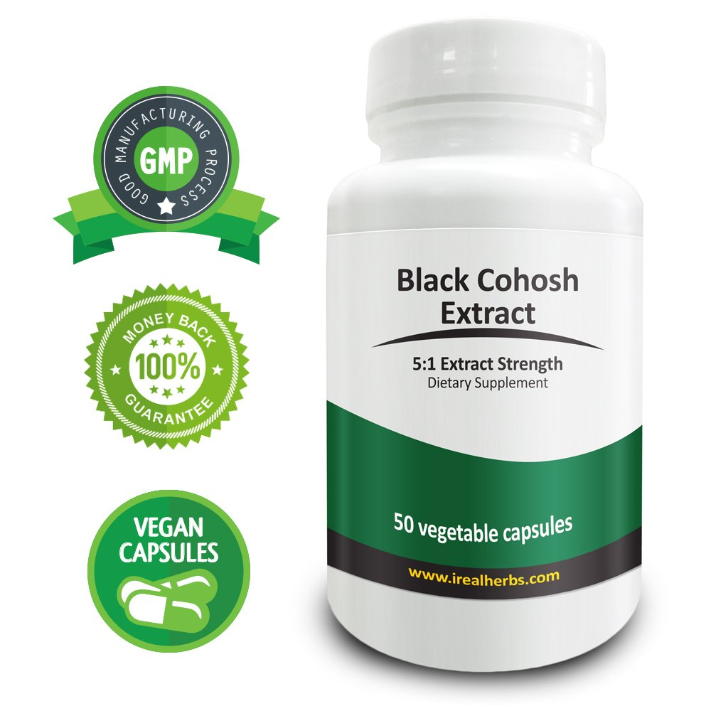 Real Herbs Black Cohosh Extract PE 5:1 - Equal to 3000mg of Black Cohosh