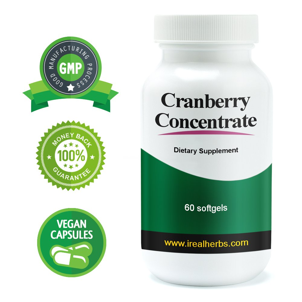 Real Herbs Cranberry Concentrate PE 50:1 - Equal to 12600mg of Cranberries