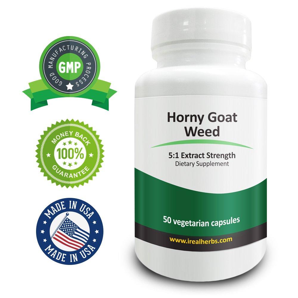 Real Herbs Horny Goat Weed Extract PE 5:1  - Equal to 3500mg (Epimedium Sagittatum