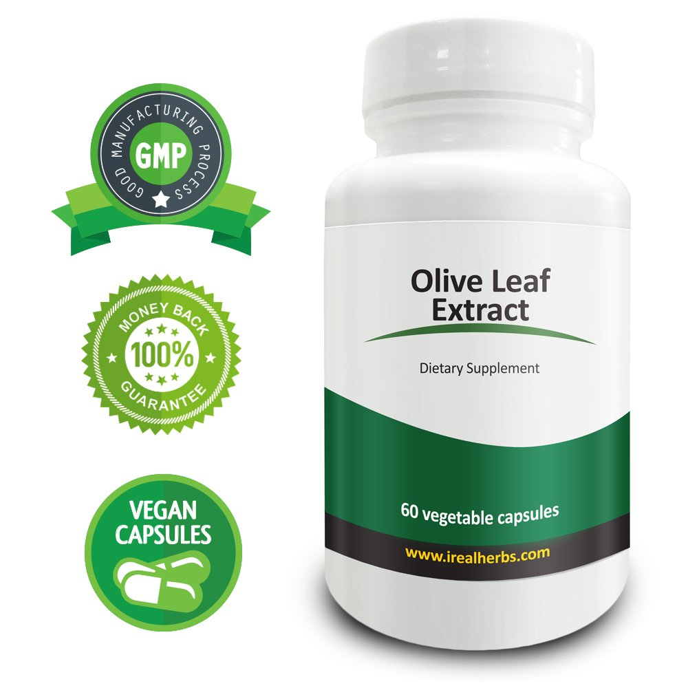 Real Herbs Olive Leaf Extract 750mg � Standardized to 20% Oleuropein