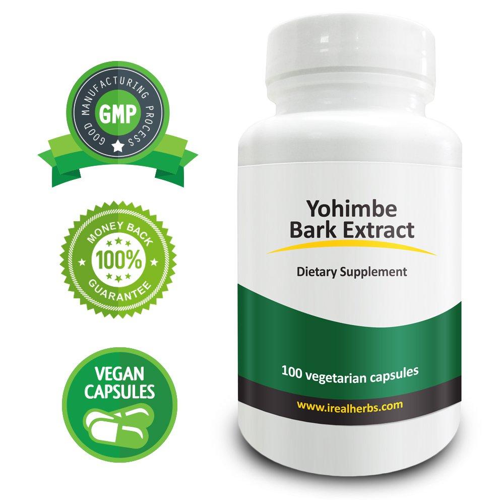 Real Herbs Yohimbe Bark Extract 100mg - Standardized to 3% Yohimbine HCL