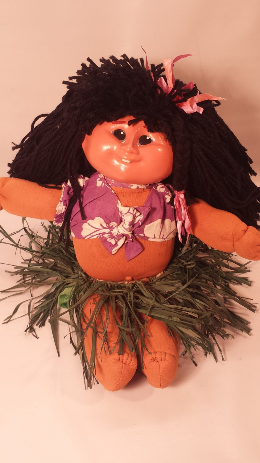 Vintage 1984 Taro Patch Dolls Hawaiian Doll Signed Don Smith Cabbage Patch