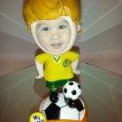 "Soccer Player Bobble Head statue / kid""s photo holder"