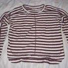 NEW Madewell Sweatshirt Knit Top 100% Cotton 3/4 Sleeve Striped Womens Small
