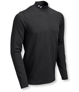 NEW Under Armour 1238393 Mens ColdGear Evo CG Infrared Mock Black Base Layer Top