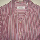 LEVI STRAUSS SIGNATURE Shirt Button Long Sleeve 100% Cotton Striped Mens Medium