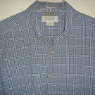 J CREW Shirt Button Down Collar Short Sleeve 100% Cotton Plaid Mens Large