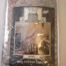 NEW Crown Crafts Cotton Throw Blanket Vintage USA NIP Derby 50 x 60 Peach Blue