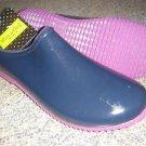 Western Chief Rubber Garden Clogs Mules Rain Shoe Waterproof Navy Blue Womens 10
