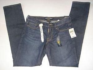 NEW LUCKY BRAND Dark Wash SWEET STRAIGHT Denim Jeans Stretch Womens 2/26 Regular