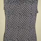 Banana Republic Black White Geometric Polka Dot Sleeveless tunic shell top Small