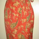 The Limited 100% Silk Wrap Sarong Skirt Paisley Floral Above Knee Womens Small