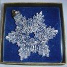 Full Lead Crystal Snowflake Ornament Metropolitan Museum of Art MMA Original Box