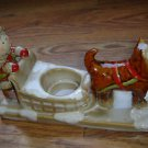 NEW Yankee Candle Eskimo Girl Dog Sled Tea Light Holder by Ronnie Walter