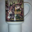 NEW American Expedition Stoneware Travel Mug Coffee Cup Whitetail Deer CTMG