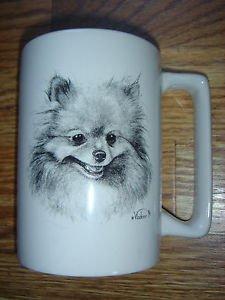 Pomeranian Coffee Mug Cup Porcelain Vladimir Dog Lover Series by Rosalinde