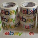 Twelve 12 Rolls eBay branded BOPP Packaging Box Tape Sealing Packing Shipping